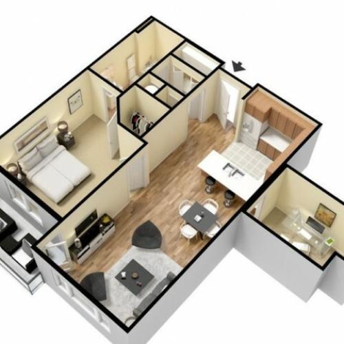 Floor Plan 5 | Kansas City Apartments | Prairie View at Village West