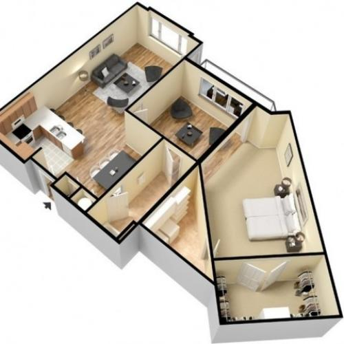 Floor Plan 7 | Apartments For Rent In Kansas City Kansas | Prairie View at Village West