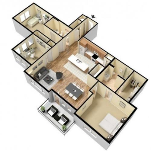 Floor Plan 17 | Apartments For Rent In Kansas City Kansas | Prairie View at Village West