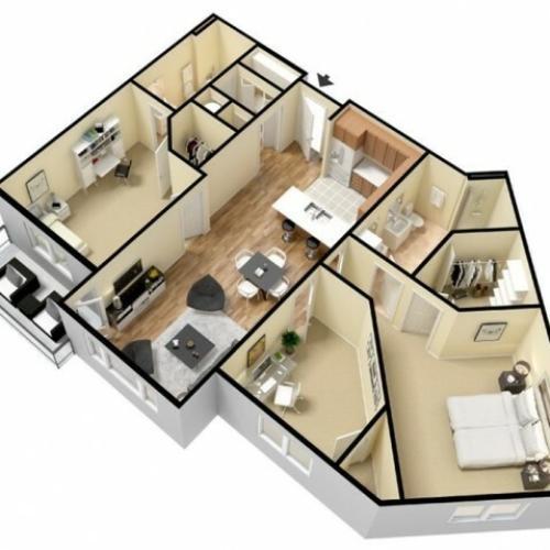 Floor Plan 18 | Apartments In Kansas City Kansas | Prairie View at Village West