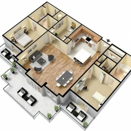 Floor Plan 19 | Apartments Kansas City | Prairie View at Village West