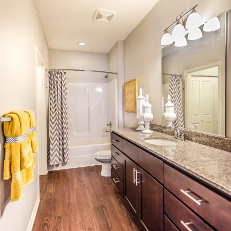 Ornate Bathroom | Apartments Kansas City | The Retreat at Tiffany Woods