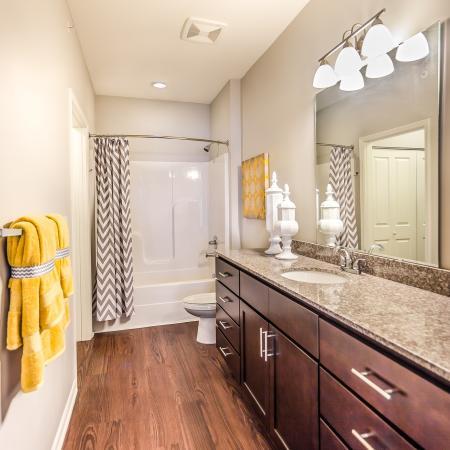 Ornate Bathroom | Apartments Kansas City | The Retreat at Tiffany Woods