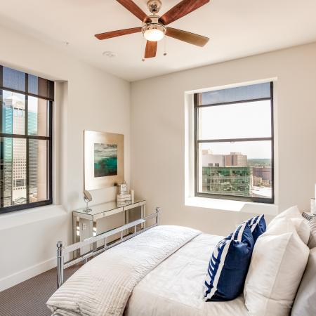 Elegant Master Bedroom | Apartments In Kansas City Downtown | The PowerLight Building