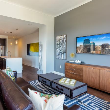 Elegant Living Room | Apartments For Rent In Kansas City | The Power  Light Building