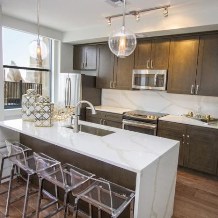 Elegant Kitchen | Luxury Apartments In Kansas City Missouri | The PowerLight Building