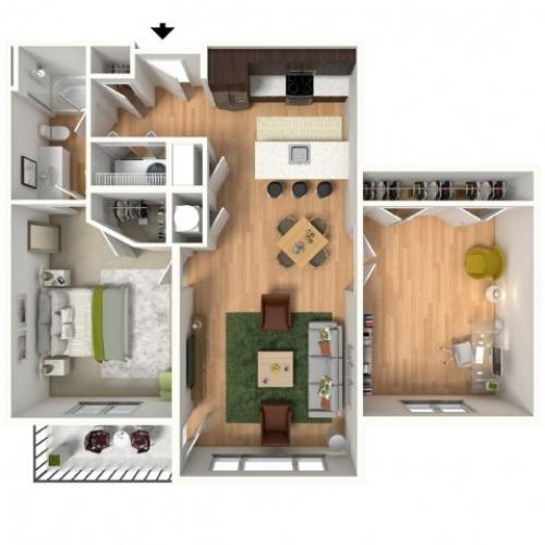 Floor Plan 1 | Lees Summit Apartments | Summit Square