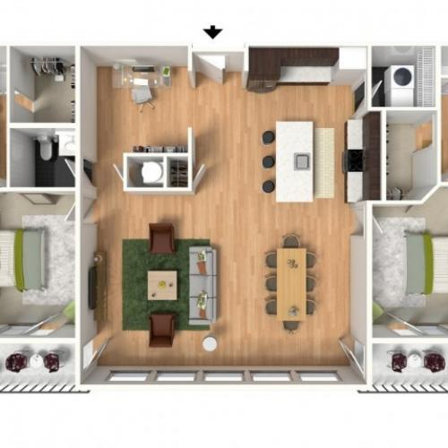 Floor Plan 4 | Lees Summit Luxury Apartments | Summit Square