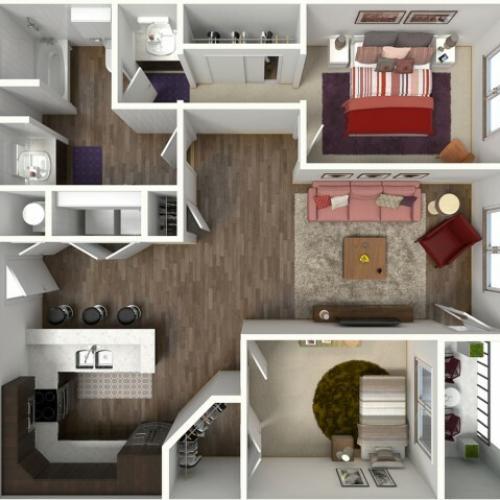 Floor Plan 1 | Kansas City Apartments | Kinsley Forest