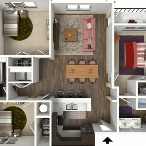 Floor Plan 2 | Kansas City Apartments | Kinsley Forest