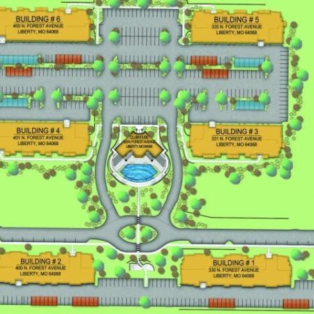 Community Map | Liberty Mo Apartments | Copper Ridge Apartments