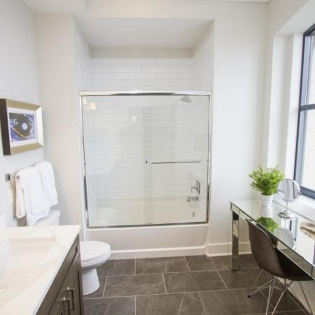 Elegant Bathroom | Luxury Apartments In Kansas City Missouri | The PowerLight Building