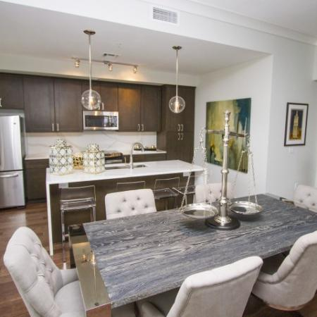 Spacious Dining Room | Luxury Apartments In Kansas City Missouri | The Power  Light Building