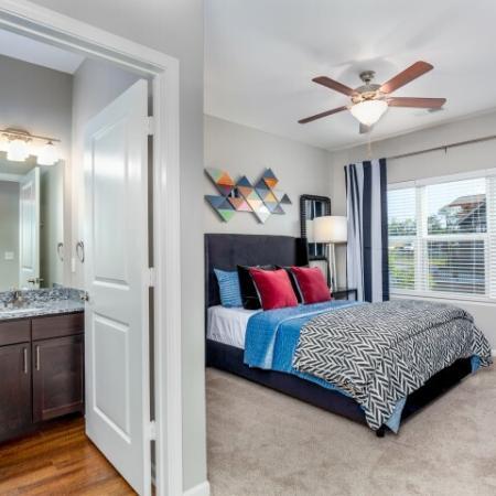 Elegant Master Bedroom | Rentals In Liberty Mo | Copper Ridge Apartments