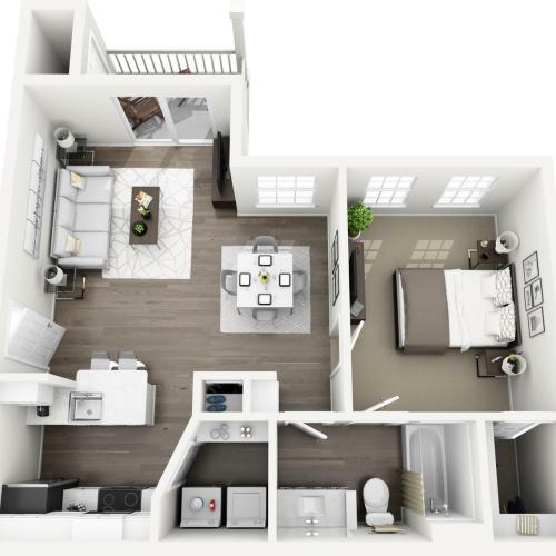 A1 - The Bellerive Floor Plan | Lexington Farms | Apartments in Overland Park, KS