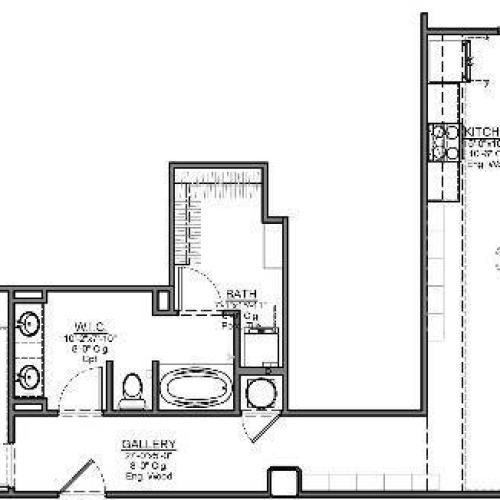 1 Bedroom Floor Plan | Luxury Apartments In Kansas City Missouri | The Power Light Building