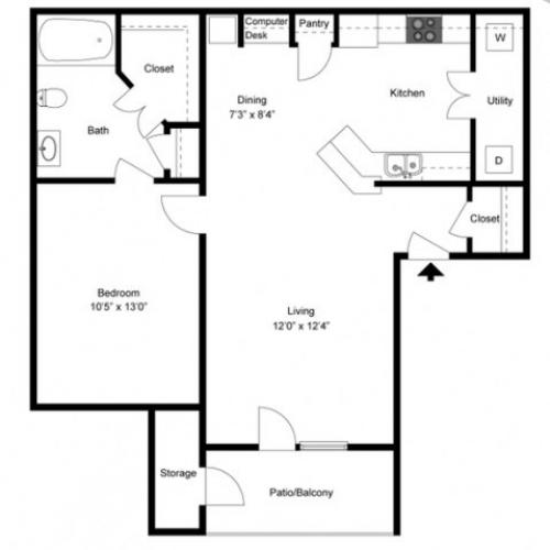FLoor PLan 3 | Apartments Ladson SC | Cypress River
