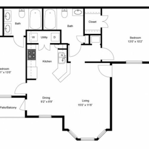FLoor PLan 5   Luxury Apartments In Ladson SC   Cypress River