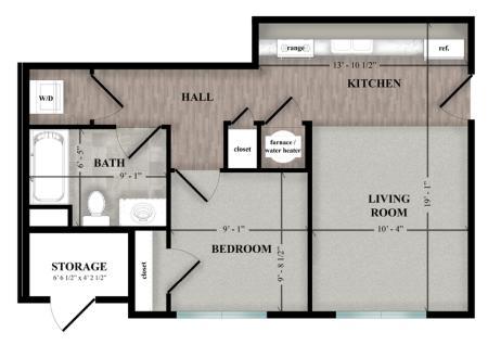 One bedroom 2 D