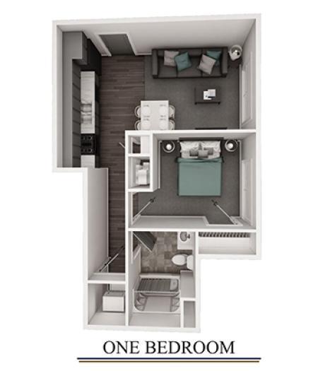 One Bedroom 3-D