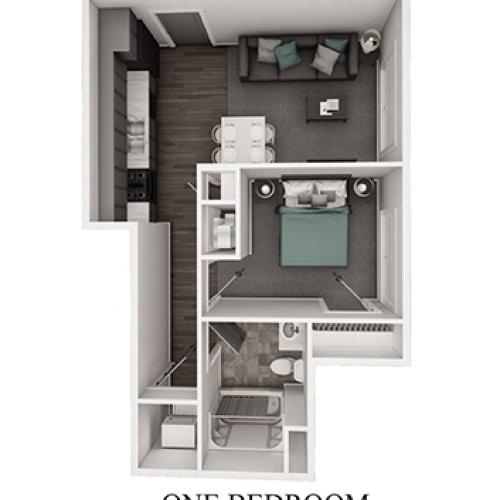 One Bedroom 3-D