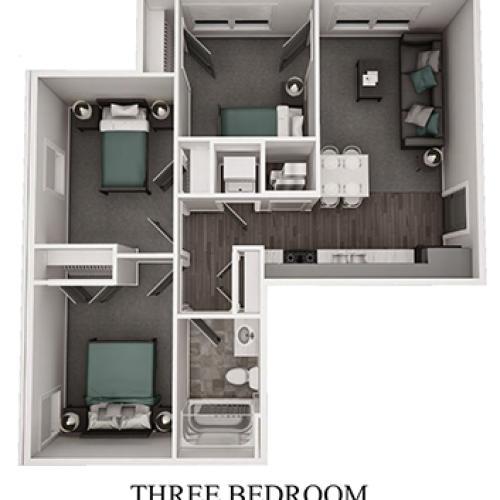 3 bedroom 3 D