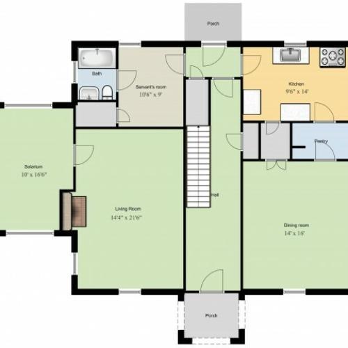 1st Floor Academic Heights 3 Bedroom