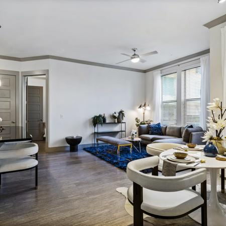 2 Bedroom Dining and Living Room Area
