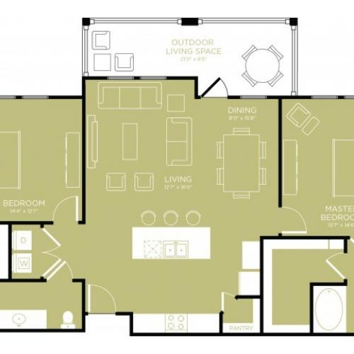 Floor Plan 15 | Apartments Wylie TX | The Mansions at Wylie