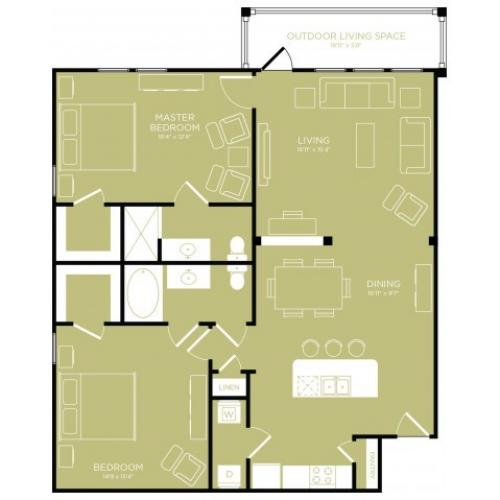 Floor Plan 11 | Apartments Wylie TX | The Mansions at Wylie