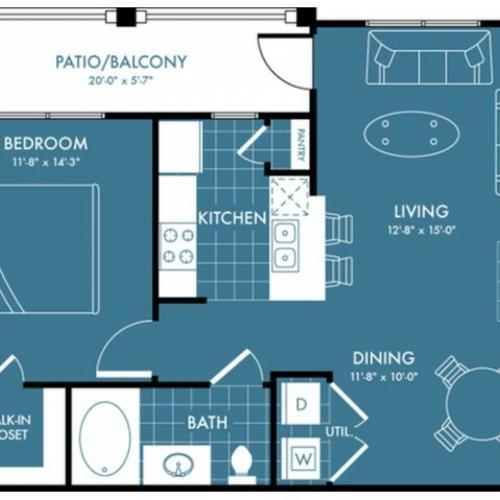 Floor Plan 2 | Apartments Magnolia | The Estates Woodland