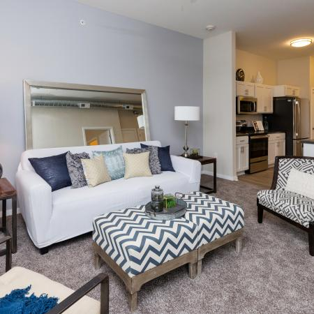 Residents Lounging in the Living Area | Des Moines Iowa Apartments | Cityville I