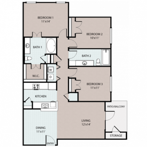 3 Bedroom/ 2 Bath
