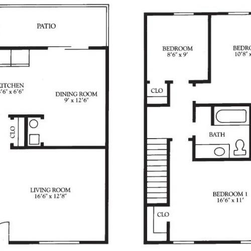 3 Bed Deluxe Floor Plan