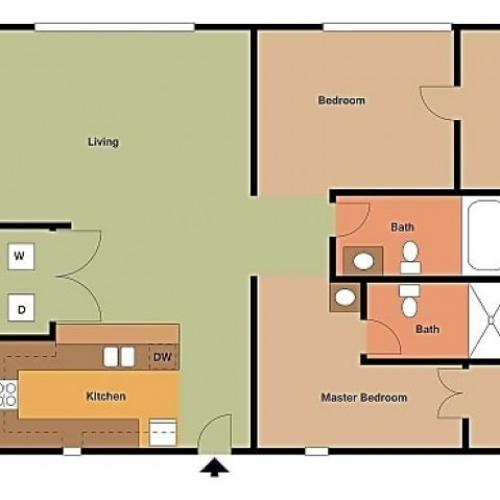 The Field, 2 Bedroom, 2 Bathroom