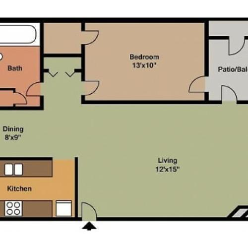 Pebblecreek 1 Bedroom Floor Plan