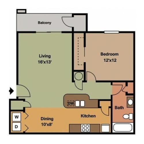 Plainview Park 1 Bedroom Floor plan Plainview Park 2D