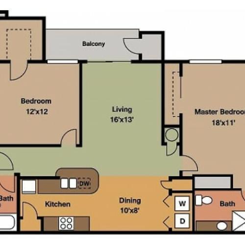 Plainview Park 2 Bedroom Floor plan Plainview Park 2D