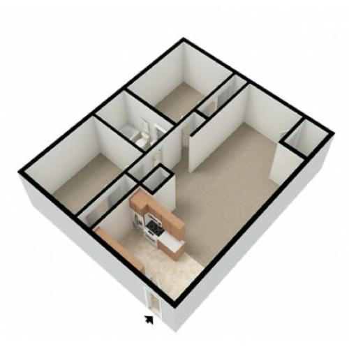 Markwood 2 Bedroom 1 Bath 3D