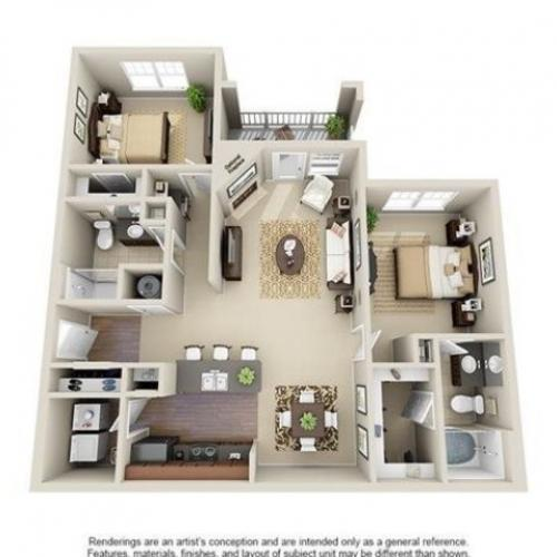 Moultrie | 2 Bedroom | 2 Bath | 1150 SF