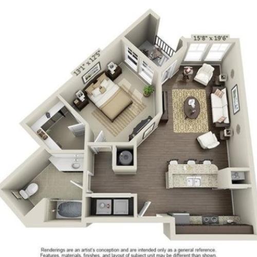 Smthye | 1 Bedroom | 1 Bath | 777 SF