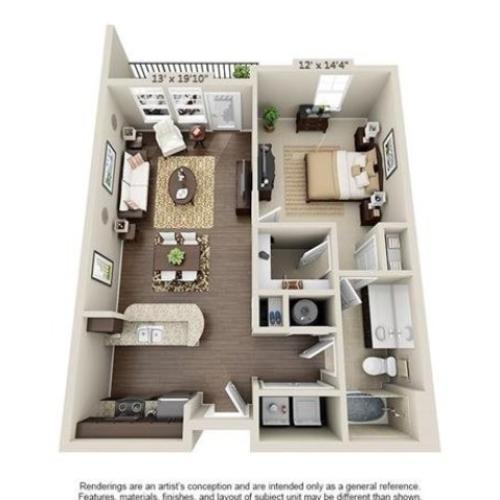 Cochrane | 1 Bedroom | 1 Bath | 785 SF