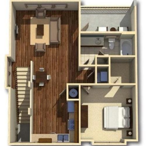 Barfield | 1 Bedroom | 1 Bath | 963 SF