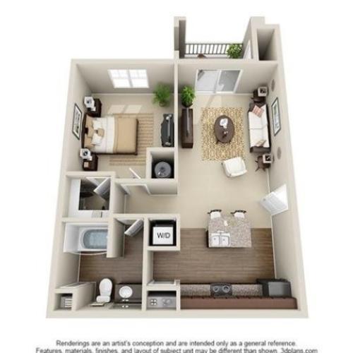 1 Bedroom | 1 Bath | 764 SF