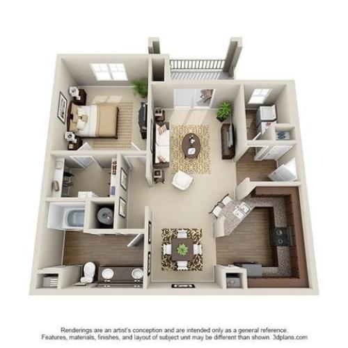 1 Bedroom | 1 Bath | 929 SF
