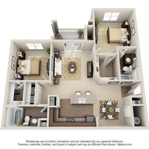 2 Bedroom | 2 Bath | 1110 SF