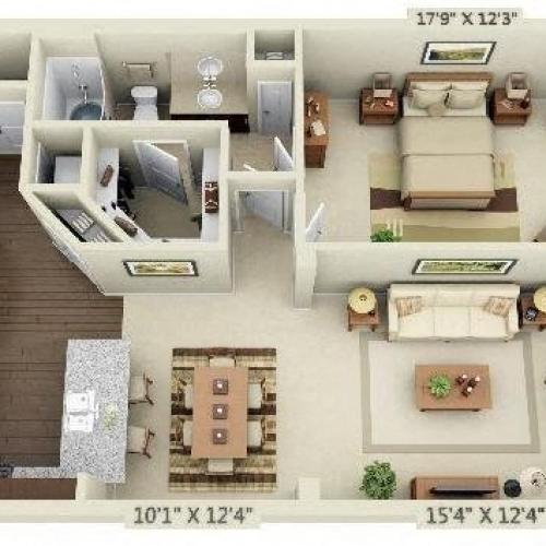 1 Bedroom | 1 Bath | 1033 SF