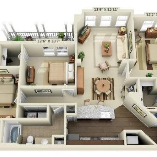3 Bedroom | 2 Bath | 1364 SF