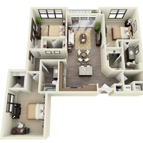 3 Bedroom | 2 Bath | 1275-1317 SF