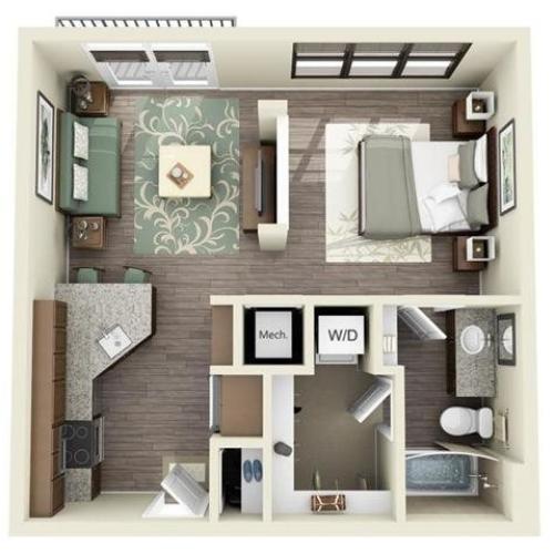 0 Bedroom | 1 Bath | 539 SF